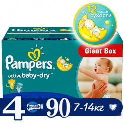 PAMPERS ���������� Active Baby Maxi (7-14 ��) ������ ���� �������� 90