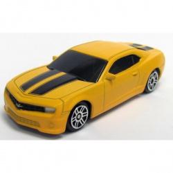Машина металлическая 1:64 Chevrolet Camaro, без механизмов, желтый матовый цвет