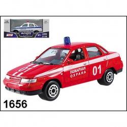 Машинка металлическая LADA 110 пожарная охрана 1:60