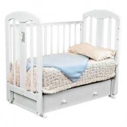 Кроватка Можга Виталина С-853 маятн.авт. белый