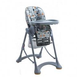 Стульчик для кормления HC-51 Круги серый , LB HC51 GC