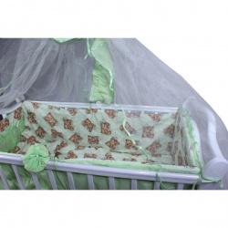 Комплект в кроватку Ласка классик 8 предметов зеленый