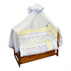 Комплект в кровать Soni Kids 6 пр. Бип-Бип голубой