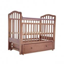 Кроватка детская ЛАУРА Лаура-2 с доп. спинкой 120*60 классическая, маят. продольный, ящик Орех