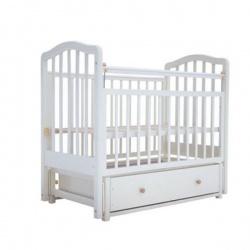 Кроватка детская ЛАУРА Лаура-2 с доп. спинкой 120*60 классическая, маят. продольный, ящик Слоновая кость