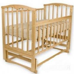 Кроватка детская ЗОЛУШКА Золушка-3 120*60 классическая, маят. попереч. Светлый