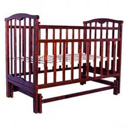 Кроватка детская ЗОЛУШКА Золушка-3 120*60 классическая, маят. попереч. Шоколад