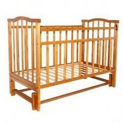 Кроватка детская ЗОЛУШКА Золушка-5 120*60 классическая, маят. продольный Светлый