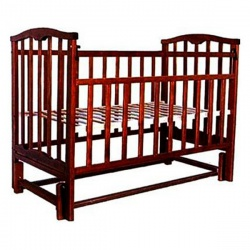 Кроватка детская ЗОЛУШКА Золушка-5 120*60 классическая, маят. продольный Шоколад