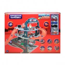 Игрушка пластмассовая паркинг Веселое авто, 2 уровня, 6 машинок, ABTOYS
