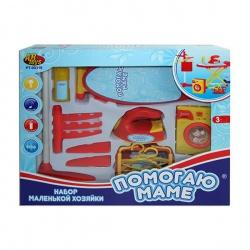 Игрушка пластмассовая Набор для стирки и глажения. Помогаю Маме, свет, звук, 12 предметов, ABTOYS