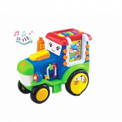 Игрушка пластмассовая Трактор, звук, свет, FELICE