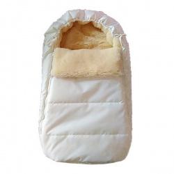 Конверт в коляску BaBy IDEA KIDS, 75х45, зима мех 100% шерсть Белый