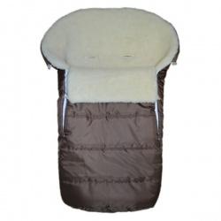 Конверт в коляску BaBy IDEA KIDS, 90х45, зима мех 100% шерсть Темно-серый