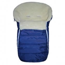 Конверт в коляску BaBy IDEA KIDS, 90х45, зима мех 100% шерсть Темно-синий