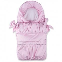 Конверт BaBy IDEA KIDS, 75x45, плащевая ткань, вельбо, демисезон Розовый