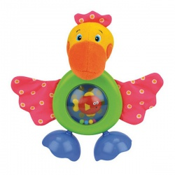 Игрушка мягкая Прогулка Пеликана, звук, безопасное зеркало, K'S KIDS