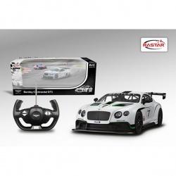Игрушка пластмассовая машина Bentley Continental GT3, р/у, 1:14, RASTAR