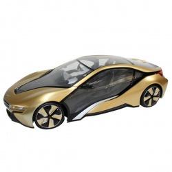 Игрушка пластмассовая машина BMW I8, р/у, 1:14, золотая, свет, RASTAR