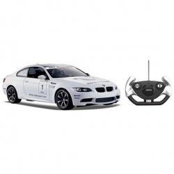 Игрушка пластмассовая машина BMW M3, р/у, 1:14, спортивная версия, белая, RASTAR