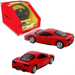 Игрушка пластмассовая машина Ferrari 458 Italia, р/у, 1:18, в ассортименте, RASTAR