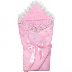 Одеяло-конверт на выписку АРГО, 90х90, весна-осень, синтепон пл.200 Розовый