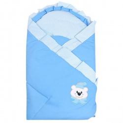 Одеяло-конверт на выписку Мишутка АРГО, 90х90, весна-осень Голубой