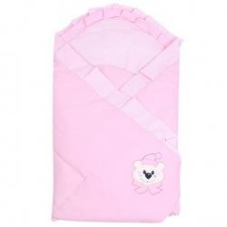 Одеяло-конверт на выписку Мишутка АРГО, 90х90, весна-осень Розовый