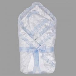 Одеяло-конверт на выписку АРГО, 90х90, весна-осень, синтепон пл.200 Голубой