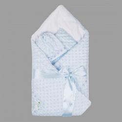 Одеяло-конверт АРГО, 90х90, весна-осень, велобоа, Хлопок 100%, пл.200 Голубой
