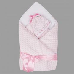Одеяло-конверт АРГО, 90х90, весна-осень, велобоа, Хлопок 100%, пл.200 Розовый