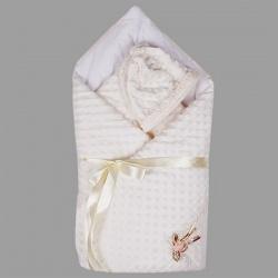 Одеяло-конверт АРГО, 90х90, весна-осень, велобоа, Хлопок 100%, пл.200 Шампань