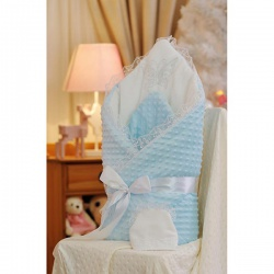 Одеяло-конверт Бабочка АРГО, 90х90, весна-осень, синтепон пл.200 Голубой
