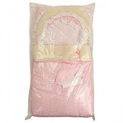 Конверт на выписку с одеялом Зима АРГО, МЕХ 8-и предм., зима, синтепон пл.300 Розовый