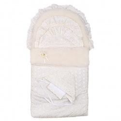 Конверт на выписку с одеялом Зима АРГО, МЕХ 8-и предм., зима, синтепон пл.300 Шампань