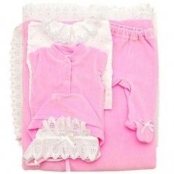 К-т Светлячок ГРАЧ, с одеялом велюр+трикотаж, 7 пр.,зима, пл.300 Розовый