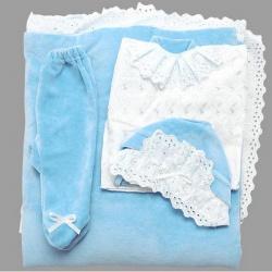 К-т Светлячок ГРАЧ,с одеялом велюр+трикотаж, 7 пр., весна-осень Голубой