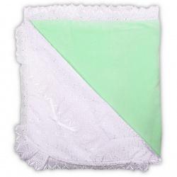 К-т Светлячок ГРАЧ,с одеялом велюр+трикотаж, 7 пр., весна-осень Салатовый