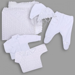 К-т Светлячок ГРАЧ, с одеялом велюр+трикотаж, 7 пр.,зима, пл.300 Белый