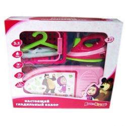 Игрушка пластмассовая Гладильный набор Маша и Медведь, 3в1, свет, вибрация, ИГРАЕМ ВМЕСТЕ
