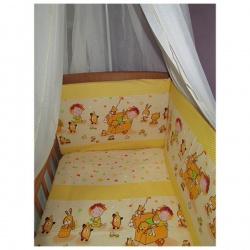 Комплект в кроватку Сюрприз ЛУНЯШКИ, 7 пр, наполнитель бамбуковое волокно, 100% хлопок Голубой