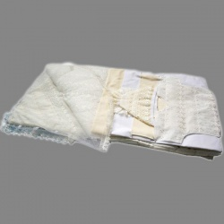 Комплект на выписку МАРГАРИТА, 7 предм., вышивка, вуаль, весна-осень, синтепон, пл.200 Бежевый