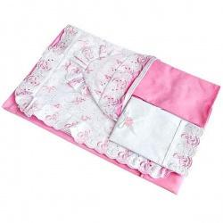 Набор на выписку МАРГАРИТА, подарочный, шитье, 7 предм. Розовый