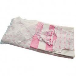 Комплект на выписку МАРГАРИТА, 7 предм., вышивка, вуаль, весна-осень, синтепон, пл.200 Розовый
