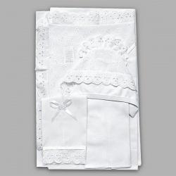 Набор на выписку МАРГАРИТА, подарочный, шитье, 7 предм. Белый