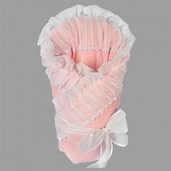 Одеяло-конверт на выписку МАРГАРИТА, перкаль, весна-осень пл.200 Розовый
