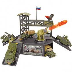 Игрушка металлическая Военная техника, с машиной, с пусковой системой, в ассортименте, ТЕХНОПАРК