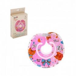 Круг на шею Розовые мечты, двухкамерный, с погремушками, от 1 мес.