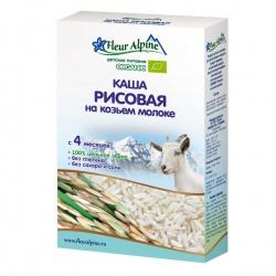 Каша Флёр Альпин на козьем молоке Органик рисовая, 4 мес.