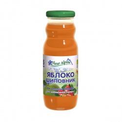 Флёр Альпин сок Органик яблоко-шиповник, 5 мес.